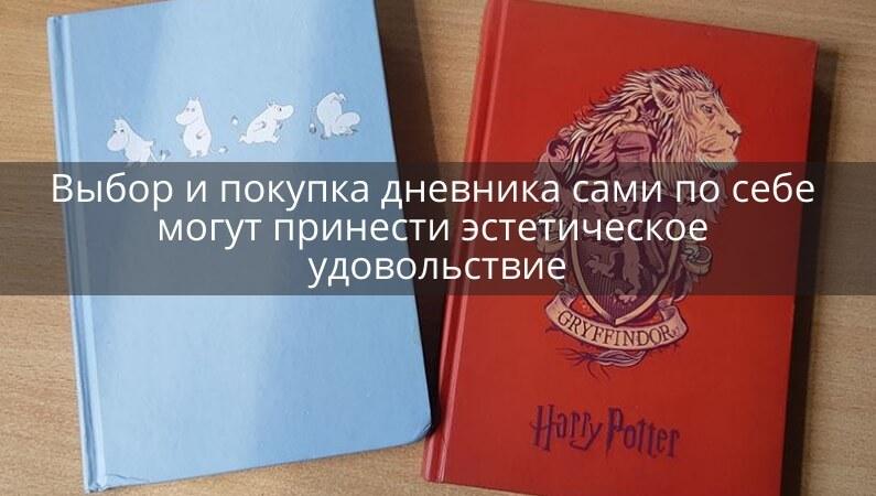 Выбор и покупка дневника может быть удовольствием
