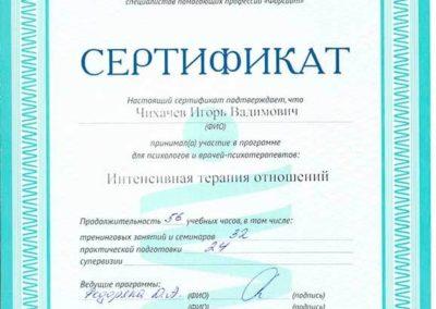 Сертификат Чихачёв 4