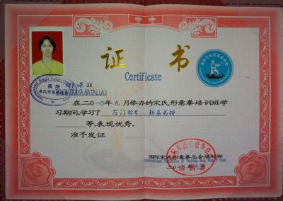 Сертификат Наталья Китаева 5