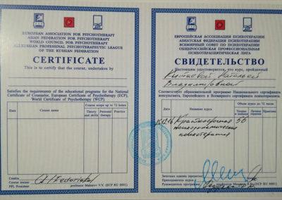 Сертификат Наталья Китаева 6