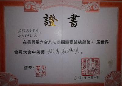 Сертификат Наталья Китаева 7
