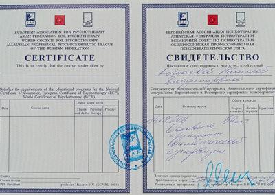 Сертификат Наталья Китаева 9