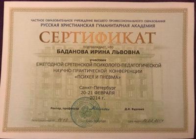 Сертификат И.Б. 29