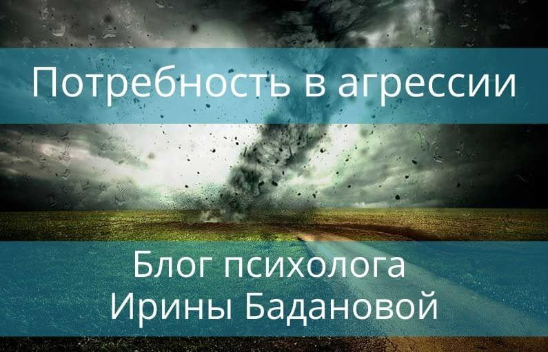 Потребность в агрессии блог Ирины Бадановой